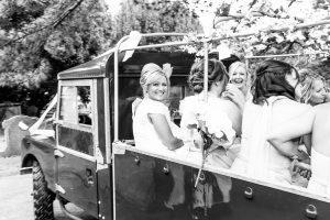 Real Wedding ~ Sophie & Todd ~ Bridesmaids & Bride Land Rover