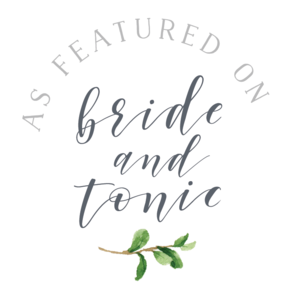 Featured on Brides and Tonic
